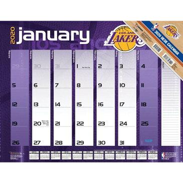 ご予約 NBA ロサンゼルス・レイカーズ 2020 チーム デスクカレンダー Turner