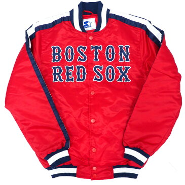 MLB ボストン・レッドソックス ジャケット/スタジャン ジ オーライン バーシティ— サテン STARTER【OCSL】