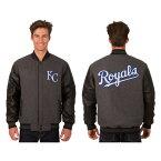 MLB カンザスシティ・ロイヤルズ ジャケット/スタジャン/アウター リバーシブル ウール バーシティ— レザースリーブス