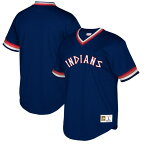 MLB クリーブランド・インディアンス ユニフォーム/ジャージ クーパーズタウン コレクション Vネック ミッチェル&ネス/Mitchell & Ness