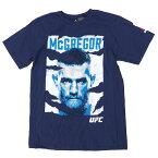 UFC コナー・マクレガー Tシャツ Poster T-Shirt リーボック/Reebok ネイビー【OCSL】