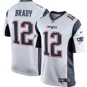 NFL トム・ブレイディ ペイトリオッツ ユニフォーム/ジャージ Game Jersey ナイキ/Nike White/Navy Blue