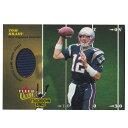 NFL トム・ブレイディ ペイトリオッツ トレーディングカード/スポーツカード 1点物 2003 ジャージ カード Fleer