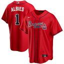 MLB オジー・アルビーズ アトランタ・ブレーブス ユニフォーム/ジャージ オルタネート 2020 レプリカ ナイキ/Nike レッド