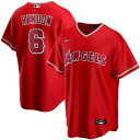 MLB アンソニー・レンドン ロサンゼルス・エンゼルス ユニフォーム/ジャージ オルタネート 2020 レプリカ ナイキ/Nike レッド