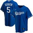 MLB コーリー・シーガー ロサンゼルス・ドジャース ユニフォーム/ジャージ オルタネート 2020 レプリカ ナイキ/Nike ロイヤル