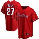 MLB アーロン・ノラ フィラデルフィア・フィリーズ ユニフォーム/ジャージ オルタネート 2020 レプリカ ナイキ/Nike レッド