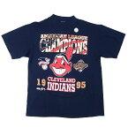 MLB クリーブランド・インディアンス Tシャツ 1995 ワールドシリーズ アリーグ優勝 T-Shirt ワフー酋長 マジェスティック/Majestic【OCSL】