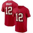 NFL トム・ブレイディ バッカニアーズ Tシャツ プレイヤー ネーム&ナンバー ナイキ/Nike レッド