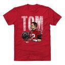 NFL トム・ブレイディ バッカニアーズ Tシャツ Player Art Cotton T-Shirt 500LEVEL レッド【OCSL】