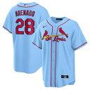 ノーラン・アレナド ユニフォーム カージナルス MLB ナイキ Nike レプリカジャージ オルタネート ライトブルー メンズ 21ns 21nrs