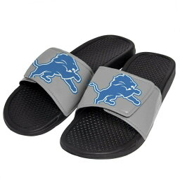 NFL サンダル シューズ ライオンズ Cropped Big Logo Flip Flop Forever Collectibles グレー