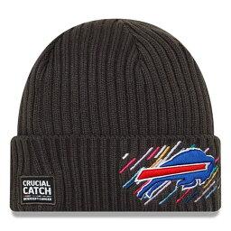 NFL ビルズ ニットキャップ 2021 クルーシャルキャッチ Crucial Catch Knit Hat ニット帽 ニューエラ/New Era チャコール