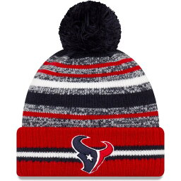 NFL テキサンズ ニットキャップ 2021 NFL Sideline サイドライン Sport Official Pom Cuffed Knit Hat ニューエラ/New Era Navy/Red