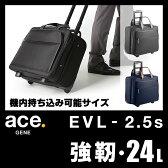 エース ジーンレーベル EVL-2.5s ビジネスキャリーバッグ 24L 機内持ち込み 出張 ビジネスバッグ エースジーン ace.GENE 54591