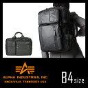 アルファ インダストリーズ ビジネスバッグ 3WAY ブルーライン ブリーフケース メンズ ショルダー付き 通勤用 リュック 防水 撥水 カーボン B4 ALPHA INDUSTRIES 4725