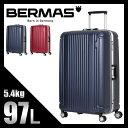 ★緊急開催中!楽天カードでP19倍!バーマス プレステージ スーツケース L 97L 軽量 フレーム LLサイズ 大型 大容量 BERMAS 60267