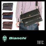 ビアンキ/クラッチショルダー/正規品【Bianchi】【TBTC-03】【クラッチバッグ】【ショルダーバッグ】【チェレステ】【メンズ/レディース】【ポイント10倍】