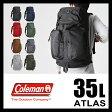 コールマン リュック バックパック アトラス トレイス 35L 大容量 通学 通勤 メンズ レディース COLEMAN ATLAS