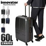 【楽天カードP25〜29倍|9/20(金)限定】イノベーター スーツケース Mサイズ フレーム 軽量 innovator 60L inv-58