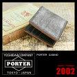 吉田カバン ポーター カジノ 財布 二つ折り財布 ブライドルレザー 革 小銭入れなし PORTER 214-04621