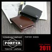 吉田カバン ポーター シーン 財布 二つ折り財布 革 薄マチ メンズ ブランド PORTER 110-02921