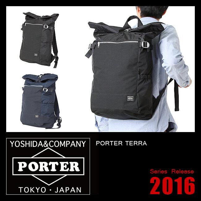 吉田カバン ポーター テラ リュック リュッサック バックパック ロールトップ 超軽量 メンズ PORTER 658-05426