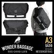 WONDER BAGGAGE ワンダーバゲージ ACTIVATE アクティベート メッセンジャーバッグ WB-V-004B メンズ 大容量 A4 A3 ユニセックス 男女兼用