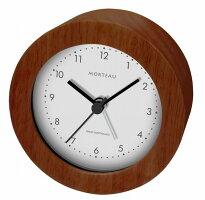ウッド電波クロック【Morteau(モルトー)】(RW-018)【送料無料】(置時計、目覚し時計、目覚時計、電波時計、アラームクロック)