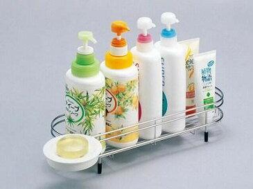 ステンレスバスカウンター1段 FS-509 (シャンプーラック、収納ラック、お風呂用品、洗面グッズ)