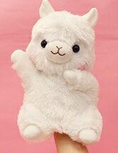 アルパカッソハンドパペットしろちゃん22cm(7月下旬入荷予定。予約受付中)(人形、玩具、おもちゃ、ぬいぐるみ、キャラクターグッズ、プレゼントに最適)