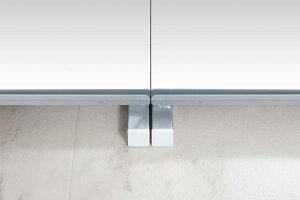 突っ張り壁面ミラー幅30cmホワイト色【送料無料】(全身鏡、スタンドミラー)