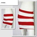 【MOMO/モモ】ボーダータイトスカート(レッド・RED)/レディース【インポート】【セレカジ】【正規品】