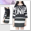 楽天新作【UNIF/ユニフ】 PANIC GAME SWEATER パニックゲームセーター(ブラック・BLK)/メンズ レディース【インポート】【セレカジ】【正規品】