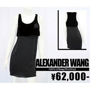 [أليكساندر وانغ / ألكسندر وان] فستان أسود قطني علوي قطني (أسود / أسود) / سيدات [استيراد] [سيليكا] [أصلي]