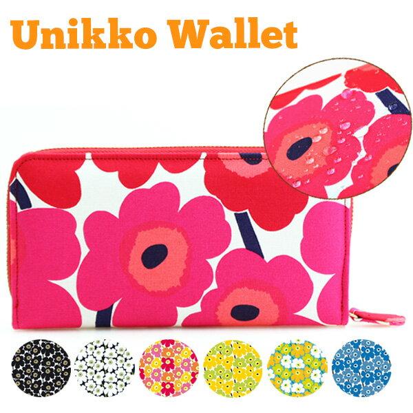 266a2f2f46a8 送料無料 レディース 長財布 財布 ウォレット マリメッコの生地使用 marimekko 北欧 花柄 おしゃれ