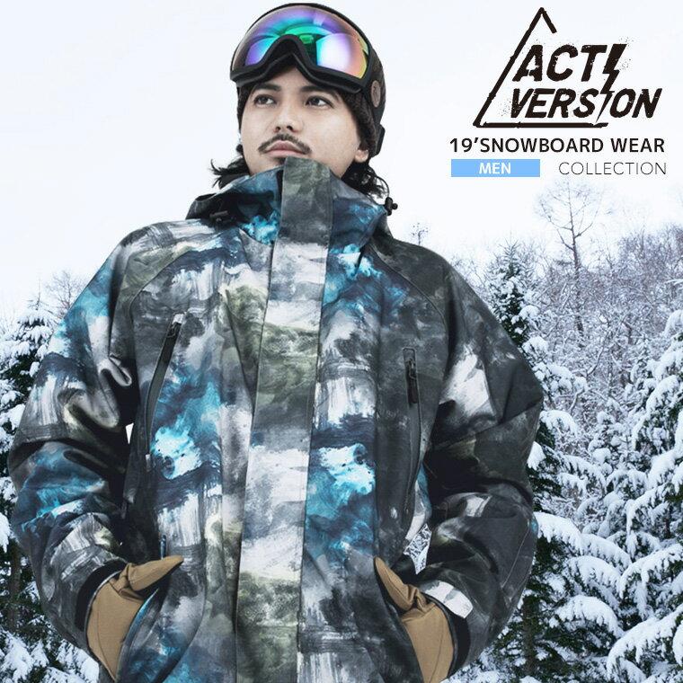 スノーボードウェア 2018-2019 メンズ 上下セット スノボウェア スノーボードウェア メンズ 即納  スノーボード スノボ ウェア スキーウェア スノボーウェア ウエア ジャケット パンツ 上下セット ACTI スノボ ウェア 激安 ジュニア