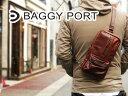 BAGGY PORT(バギーポート)フルクロームワックスレザー タテ型ボディバッグ ワンショルダー NIS-6433【斜め...