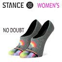 STANCE・スタンス/SOCKS・靴下・レディースソックス/19SP/SUPER INVISIBLE 2.0・NO DOUBT/GRY・グレー/WOMENS・女性用/22-25cm/スニーカーソックス/タイダイ/レインボー 【あす楽 対応】