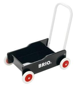 出産祝いにも!brio ブリオ 「手押し車(黒)」