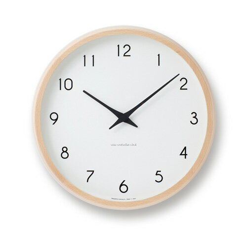 Lemnos レムノス PC10-24W NT Campagne ナチュラル / 電波時計 壁掛時計 ...
