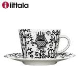 【SALE】Iittala イッタラ Taika タイカ コーヒーカップ&ソーサー200ml ブラック / 北欧 食器