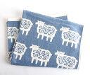 秋の北欧セール/KLIPPAN (クリッパン) コットンブランケット(シュニール織り)シープ ブルー...