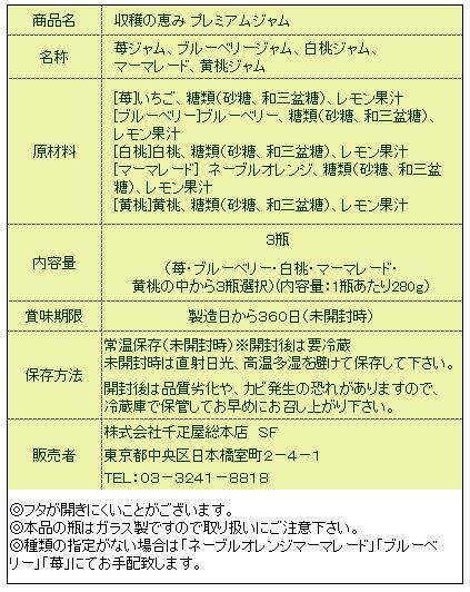 日本橋千疋屋総本店公式収穫の恵みプレミアムジャム3個入