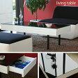 ブラックとホワイトのコントラストが美しい♪ センターテーブル 【送料無料】 ガラス ブラック ホワイト 送料無料 105 ガラス天板 おしゃれ ローテーブル 引き出し 激安 木製 日本製 センターテーブル 引き出し 安い
