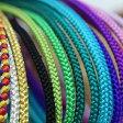 ◆メール便発送OK!!◆ 正絹組み紐 寒色 選べる全30色 個性的カラーであなただけのスタイルを! / 無地 帯締め 飾りひも 着物 浴衣 ニコアンティーク 01-04-13-006