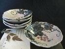 鉢■陶芸作家・佐藤和次作絵瀬戸葡萄絵取鉢