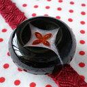 花七宝の帯留 黒(商品番号 WA-184)