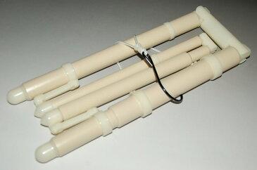 きものハンガー(コンパクト・ベージュ色)(折りたたみ式・帯掛け付き)g-044【キモノ仙臺屋の和装小物特集】