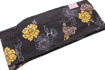 2尺袖の着物-No170(Lサイズ)【地色:焦げ茶色/入・卒業・袴特集/二尺袖/振り袖】